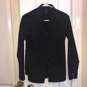 J Crew Navy Button Down Shirt